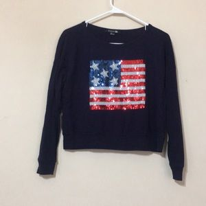 Forever 21 cropped long sleeve shirt
